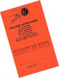 Carnet de bord 6ème